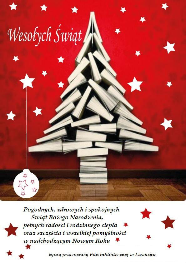 Kartka Świąteczna filia biblioteczna w Lasocinie