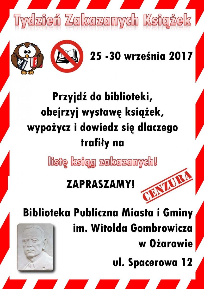 Plakat Tydzień Zakazanych Książek