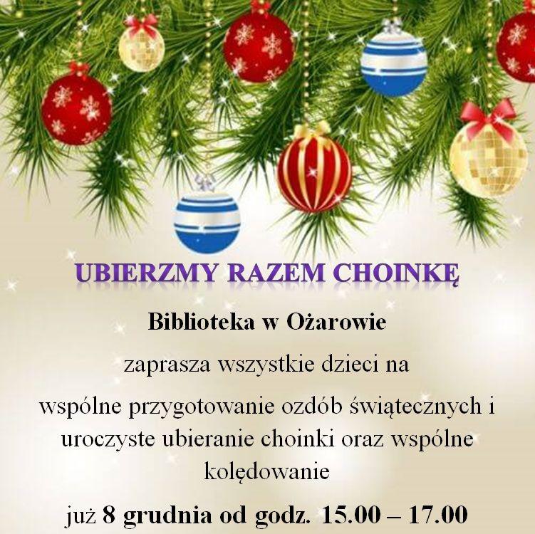 Choinka zaproszenie