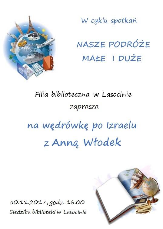 Plakat spotkanie z Anną Włodek